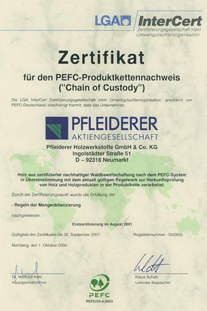 LGA Certyfikat Beckermann