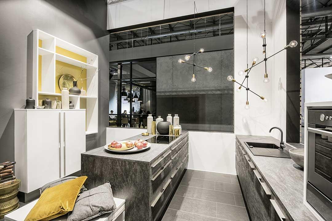 Niemieckie meble kuchenne Nolte Küchen - Front betonowy